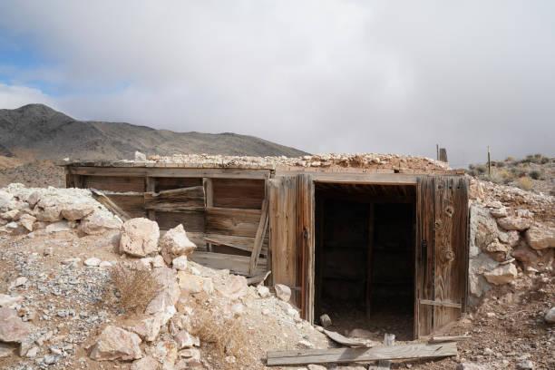 An abandoned mine stock photo
