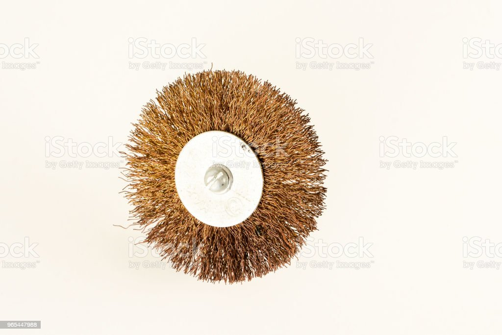 An abrasive drill brush royalty-free stock photo