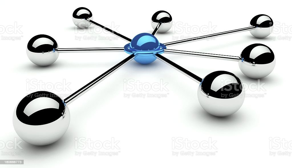 An abstract 3D model of the conception of communication royalty-free stock photo