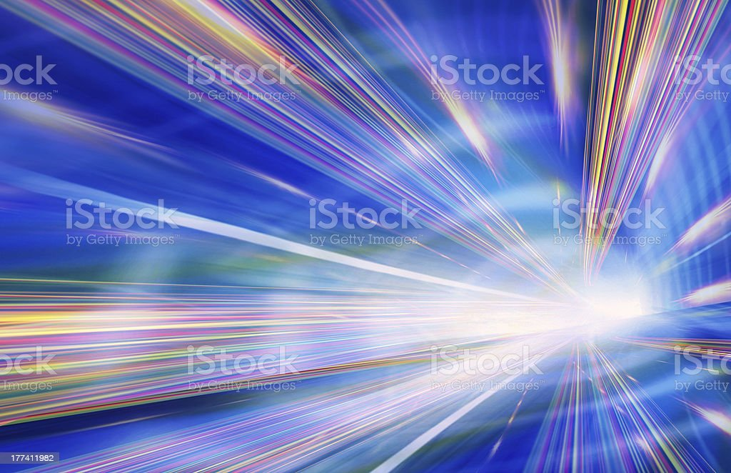 An abstract background depicting light rays stock photo