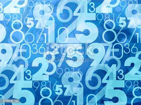 istock An abstract blue pattern with numbers 178895760