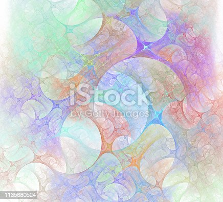 istock An abstract computer generated modern fractal design. Abstract fractal color texture. Digital art. Abstract Form & Colors. Abstract fractal element for your design. 1135680524