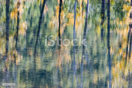 istock An abstract design created by foliage reflecting on water 92033270