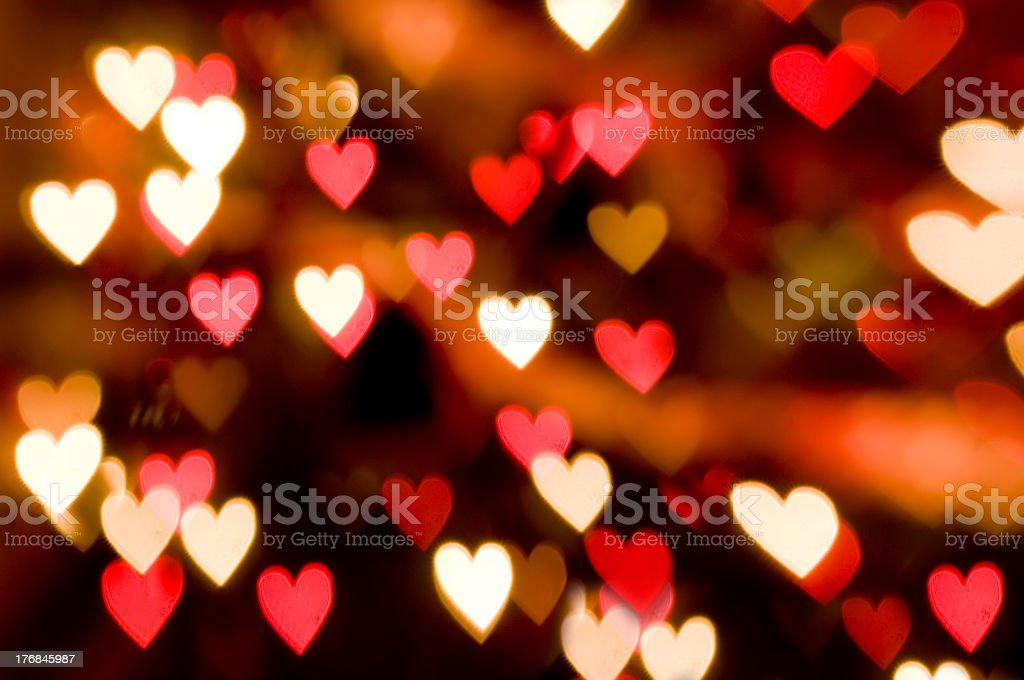 An abstract heart background with white and red hearts stock photo