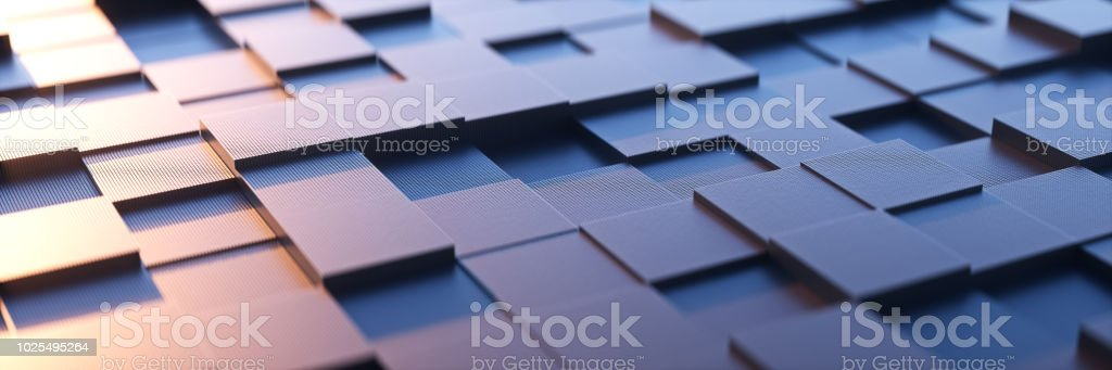 An abstract square background with a metal sense of technology.3d rendering. stock photo