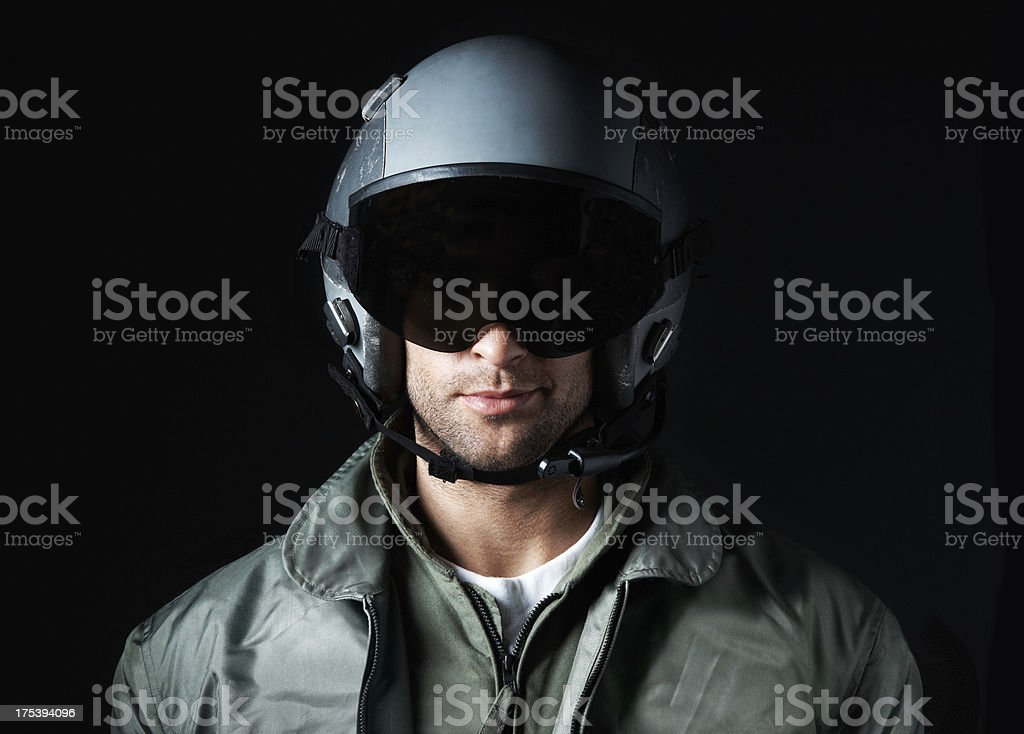 An ace aviator stock photo