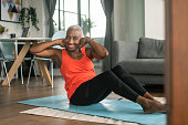 istock An active senior woman works out from her lounge room 1280247439