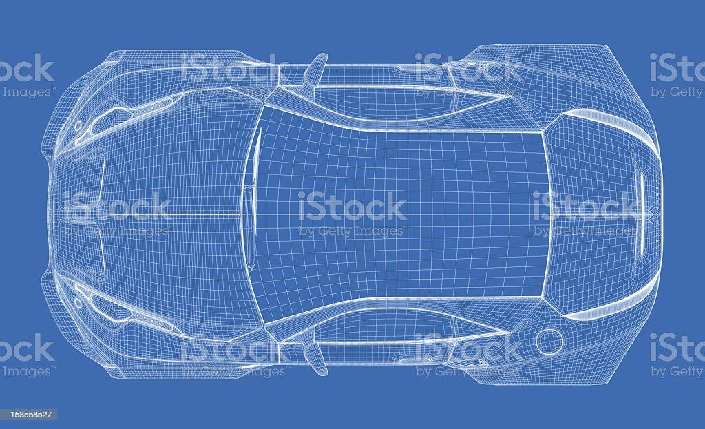 Sport Auto Technische Zeichnung - Stockfoto | iStock