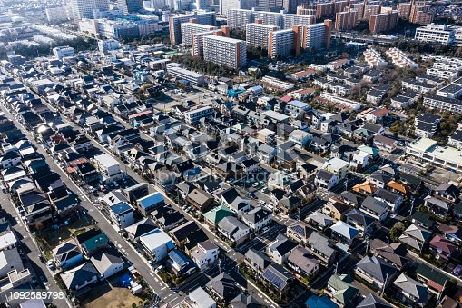 Aerial photograph of residential area