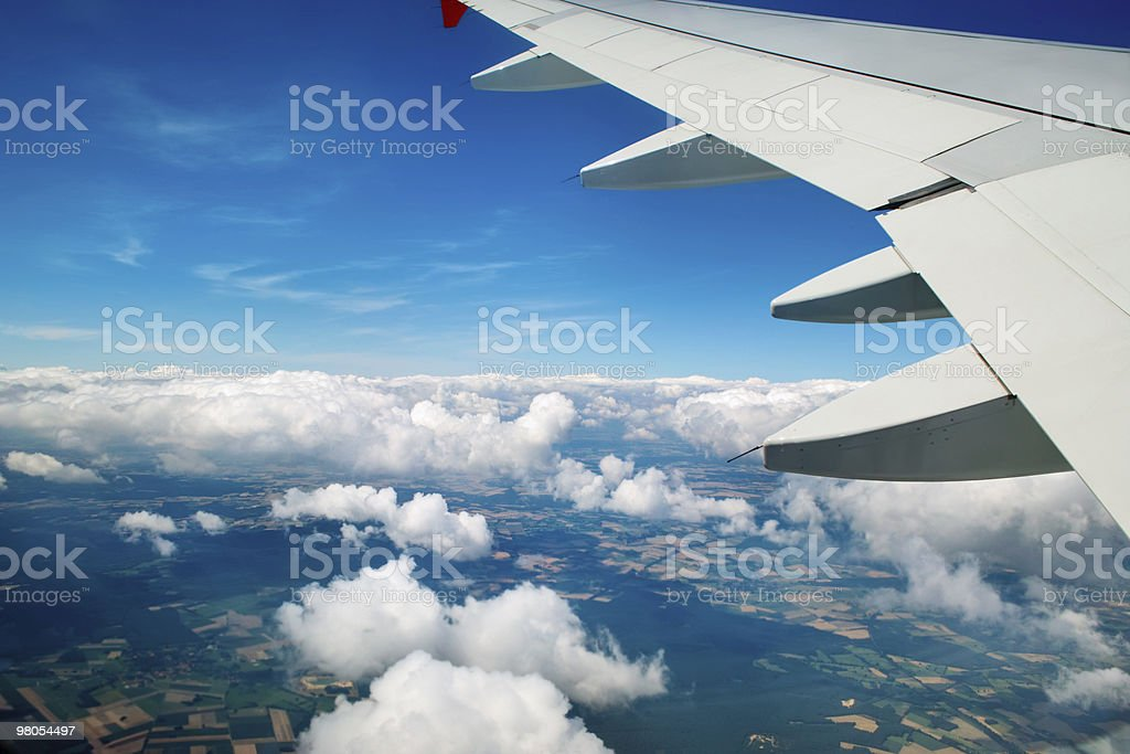 An aerial view from  airplane royalty-free stock photo