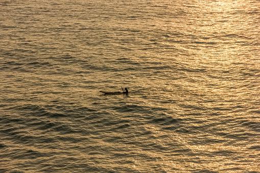 canoe in the backwaters of Kerala, India