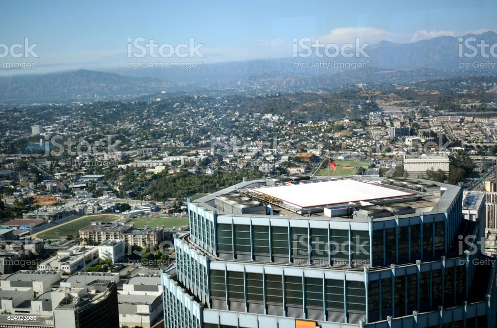 An Aerial View of Greater Los Angeles stock photo