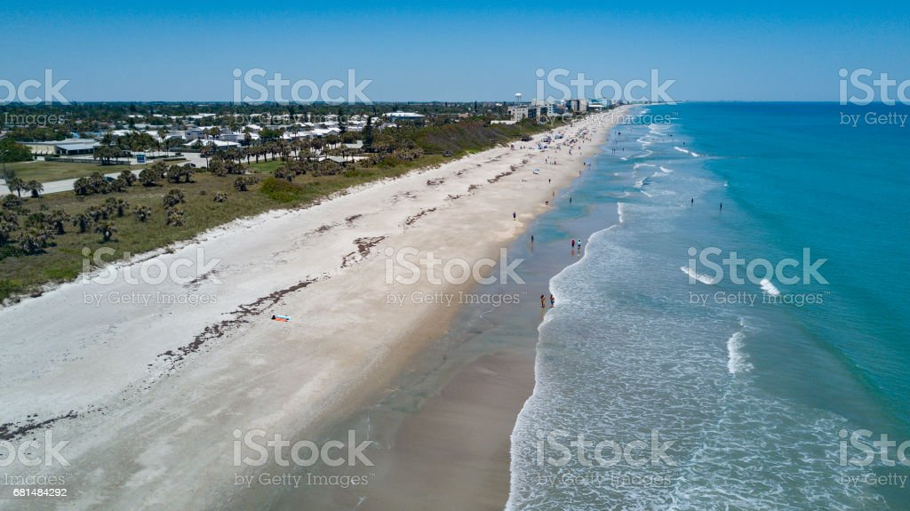 An Aerial View of Melbourne Florida's Beaches royalty-free stock photo