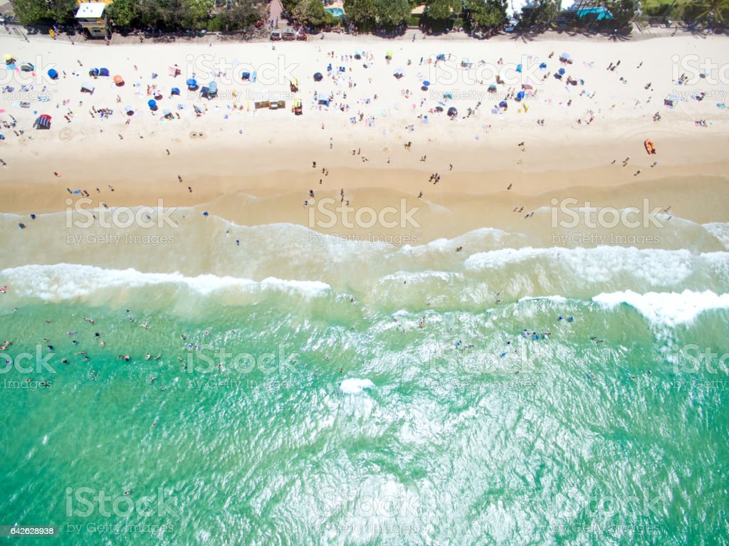An aerial view of Noosa Heads stock photo