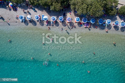 An aerial view of the beach in summer - Turkey