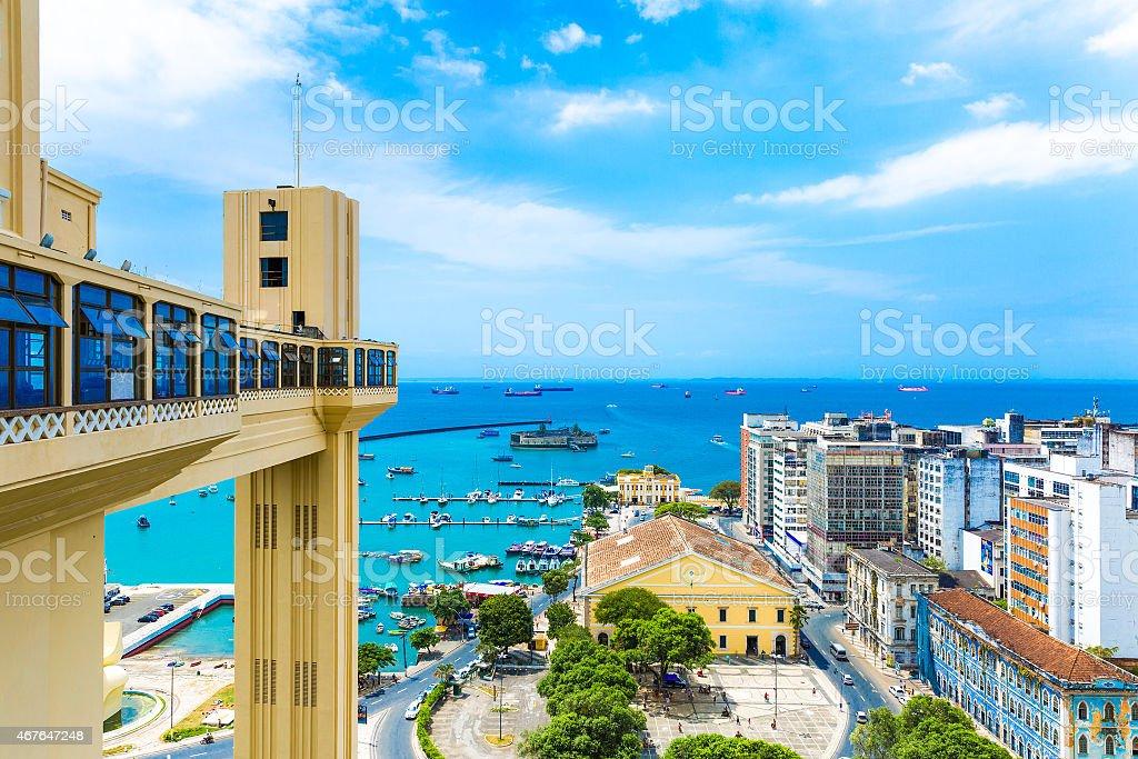 Vista aérea de la ciudad de Bahía Salvador, Brasil - foto de stock