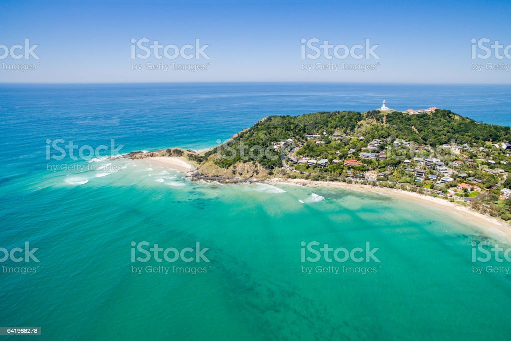 An aerial view of Wategoes Beach in Byron Bay An aerial view of Wategoes beach in Byron Bay in New South Wales, Australia Adult Stock Photo