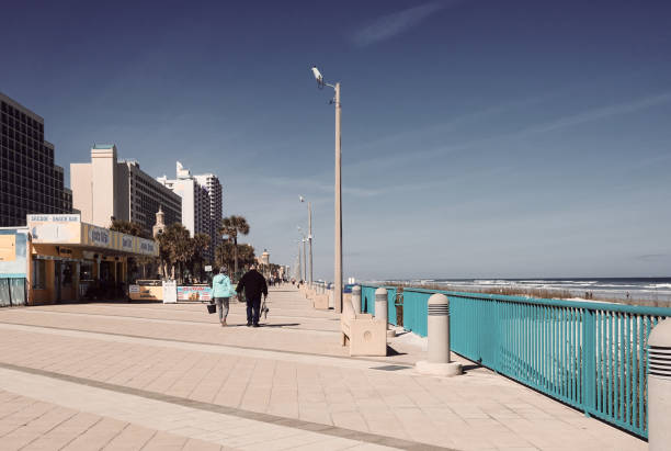 An afternoon on the boardwalk. stock photo