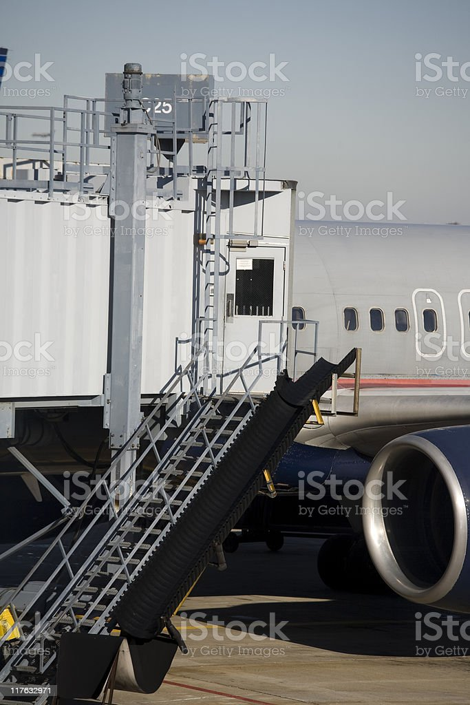 An airport terminal with tarmac and ramp royalty-free stock photo