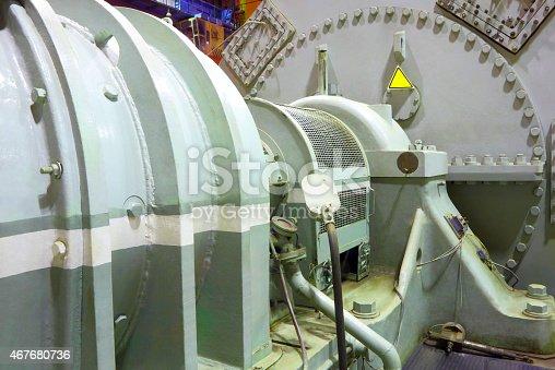 istock An all steel power generator steam turbine  467680736