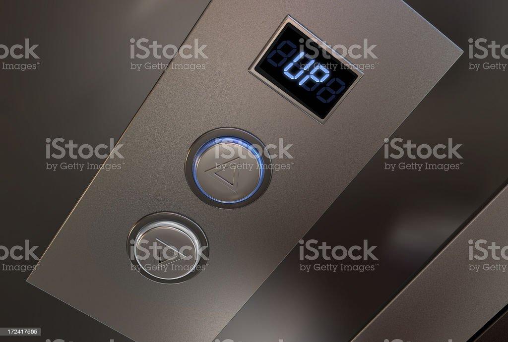 Ascensor de aluminio - foto de stock