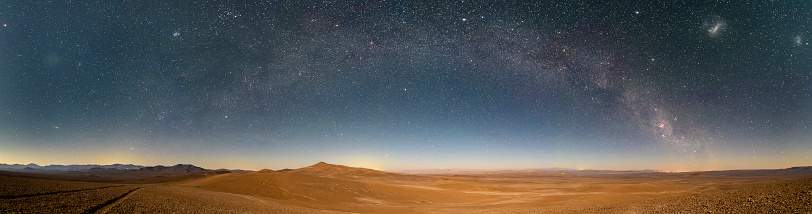 Atacama Desert located at North Chile is an amazing place to enjoy the vast desert extensions full of salt lakes, salt flats, sand, beautiful beaches and an awesome night sky and when the rain comes millions of flowers blooming making a wonderful landscape