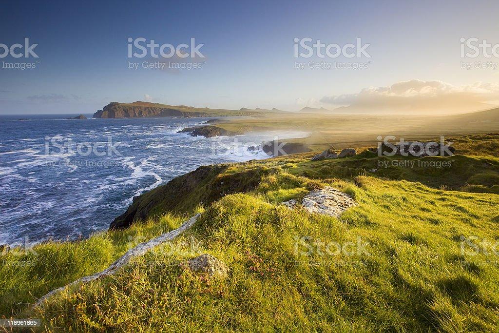 An amazing view of Irish seashores stock photo