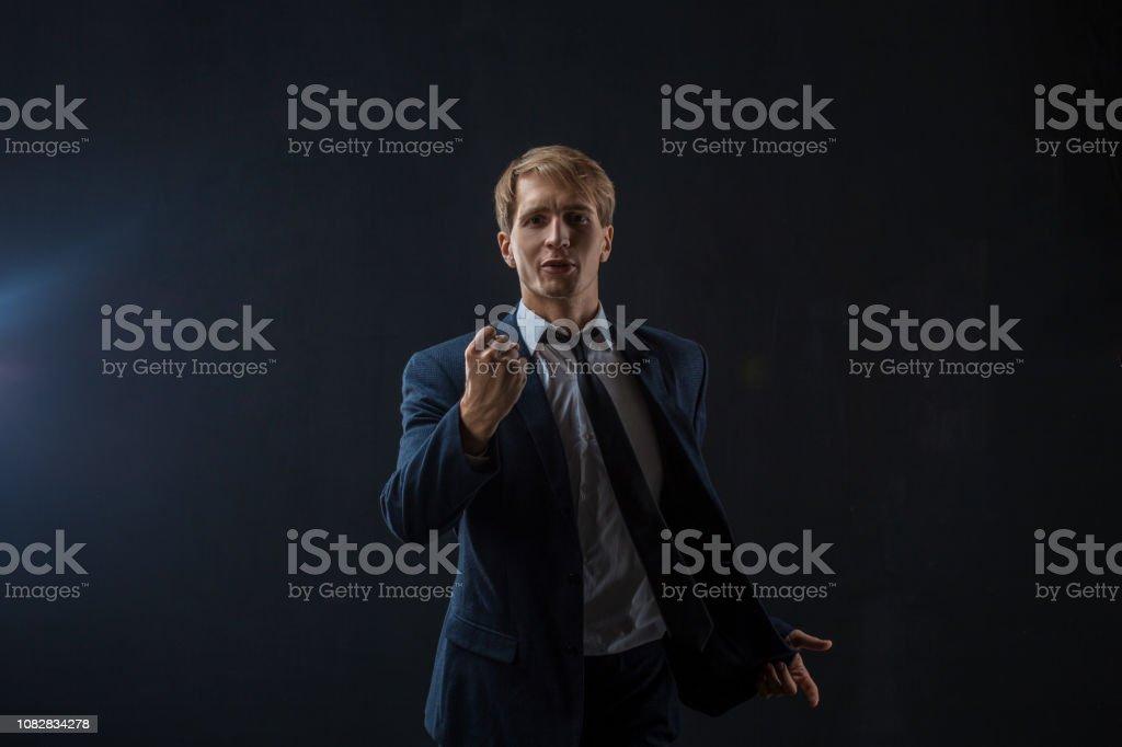 Foto De Um Ambicioso Empresário Fala Com Você Palestrante