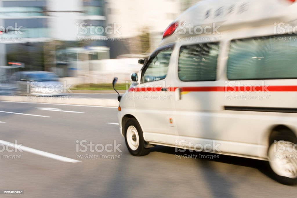 An ambulance run stock photo