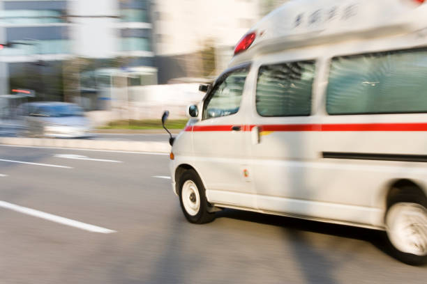an ambulance run - ambulance stock photos and pictures