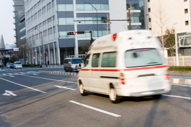 An ambulance run stock photo