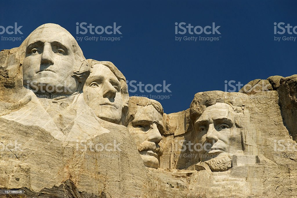 An American national Monument Mount Rushmore stock photo