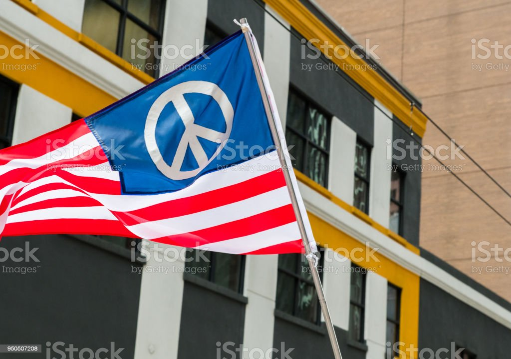 An American peace flag