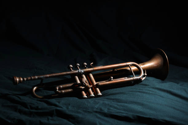an ancient jazz trumpet from the 1940s