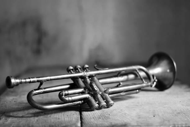 an ancient jazz trumpet