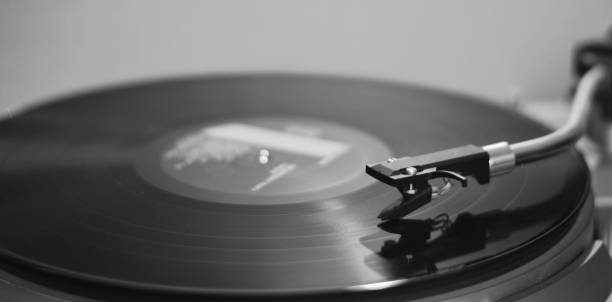 an ancient record player plays an old melody