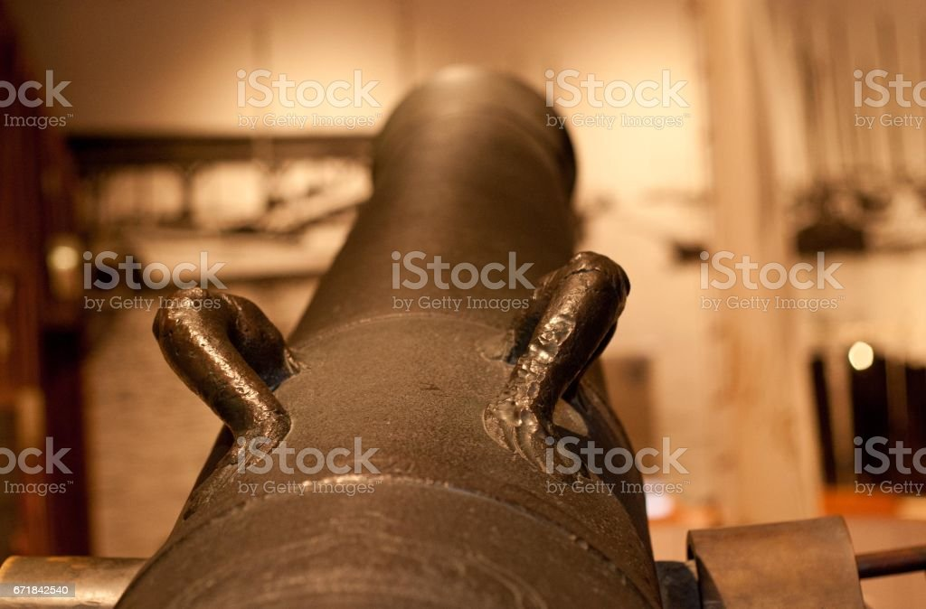 An ancient Spanish cannon stock photo
