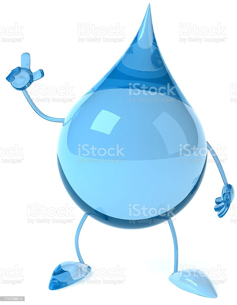 An animated image of a water drop royalty-free stock photo