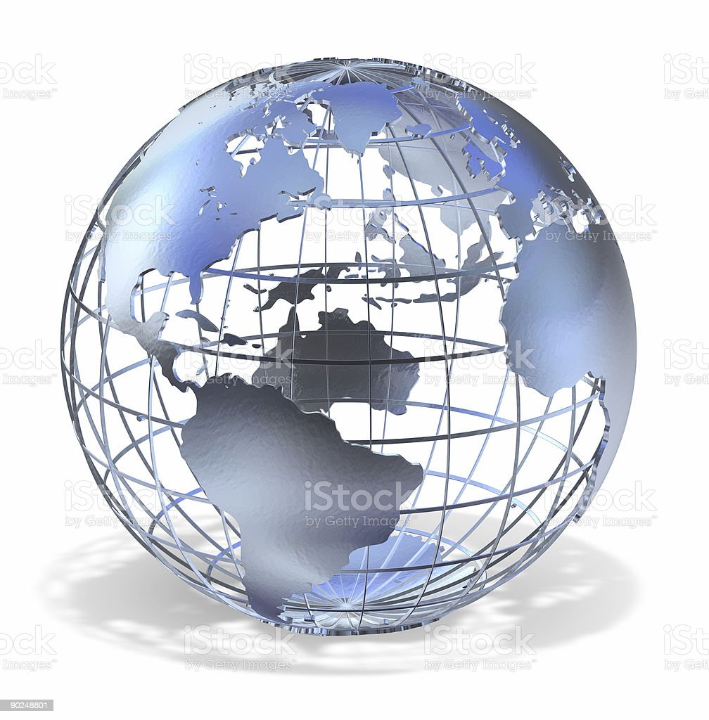 An animated outline of the earth stock photo