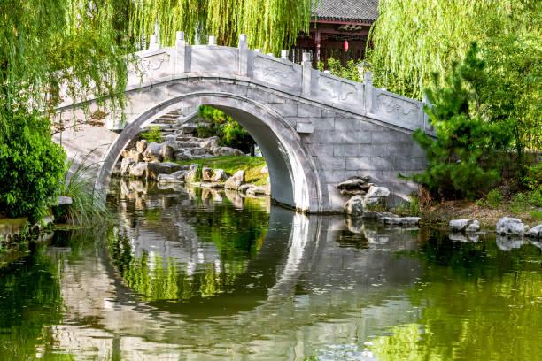 Un puente de piedra antiguo - foto de stock