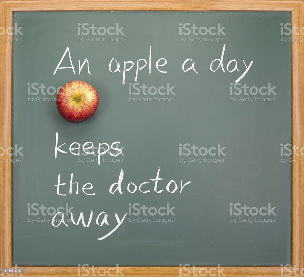 An apple a day keeps the doctor away royalty-free stock photo