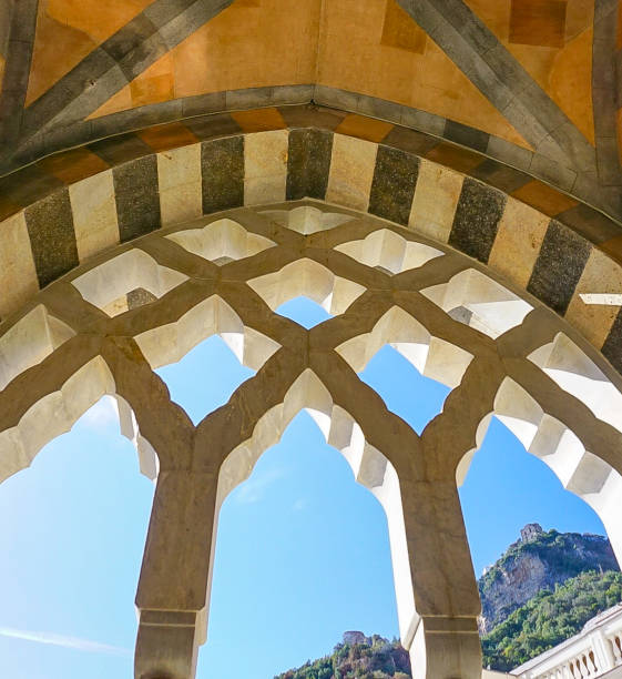 An Arch of the Amalfi Cathedral in Amalfi Italy stock photo