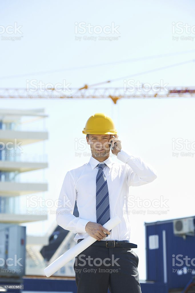 An architect on call royalty-free stock photo