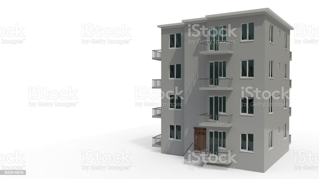 An architectural project that's under construction, 3d rendering stock photo
