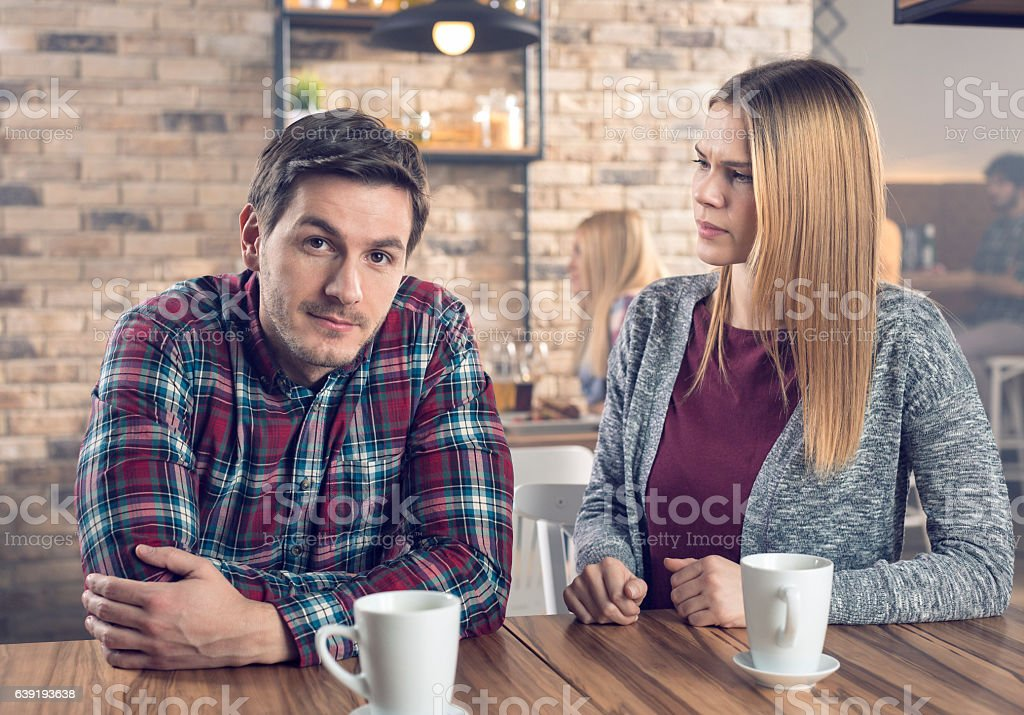 An argument stock photo