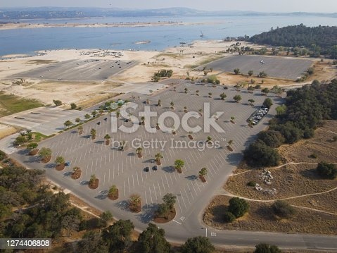 This is a photo taken on DJI Mavic air 2 of Folsom lakes boat launch