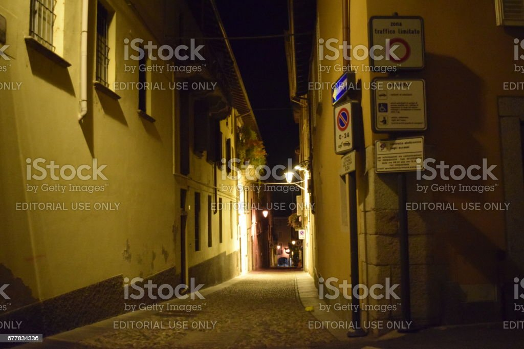 An Arona alley stock photo