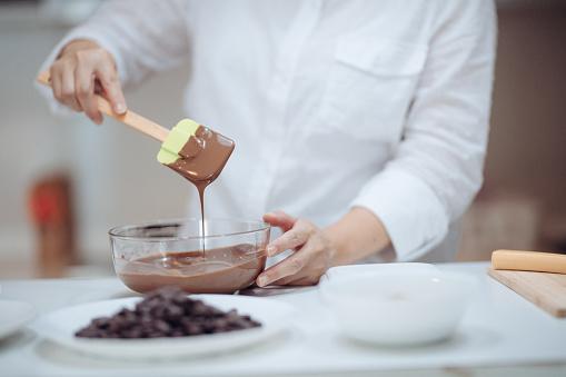 fondant au chocolat et à l'avocat