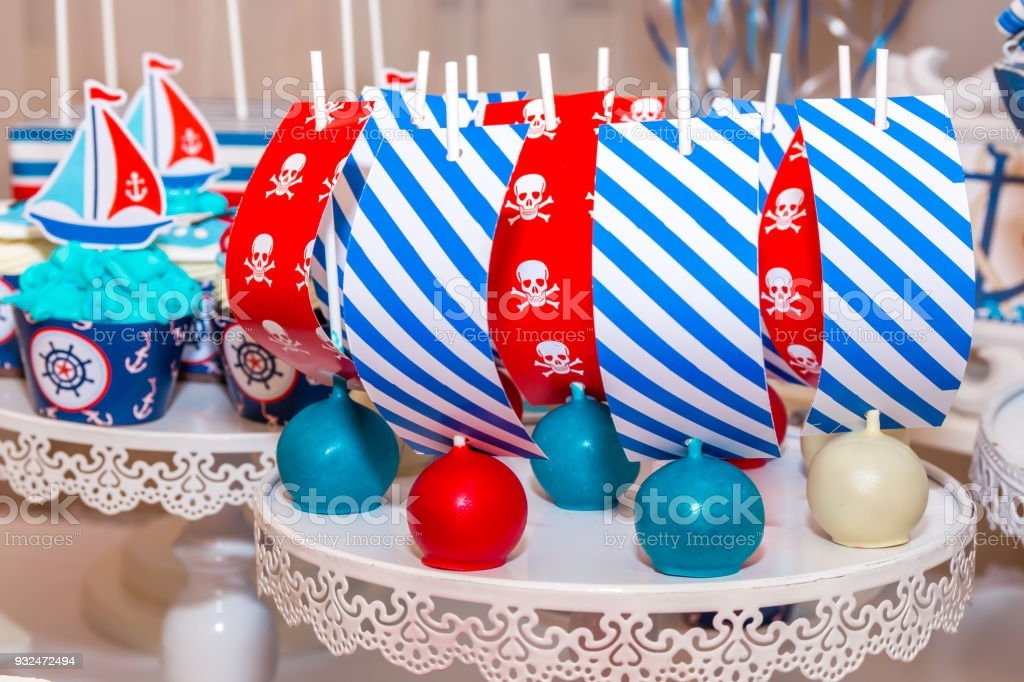 An assortment of colorful festive sweets stock photo