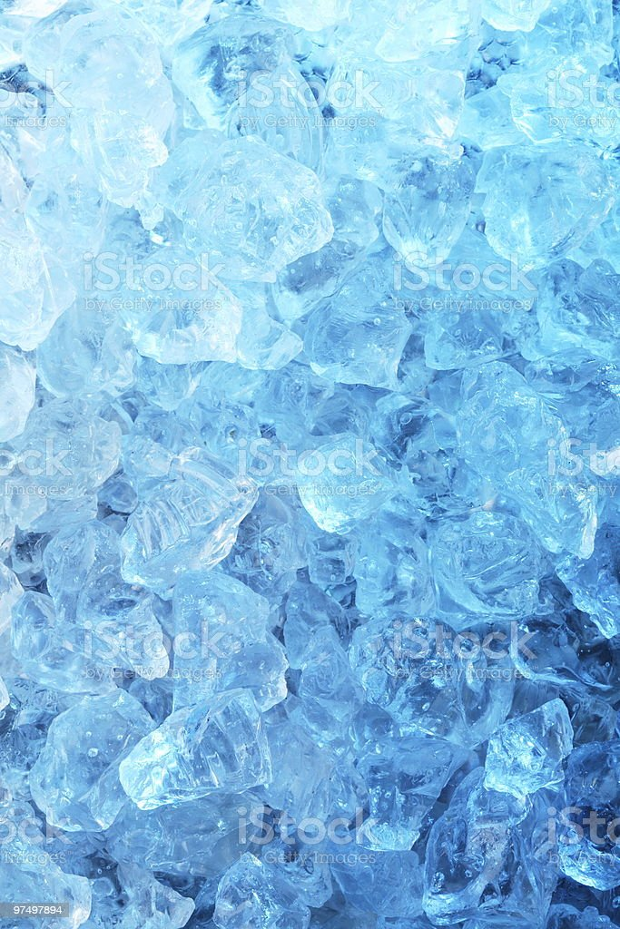 An assortment of melting ice cubes royalty-free stock photo